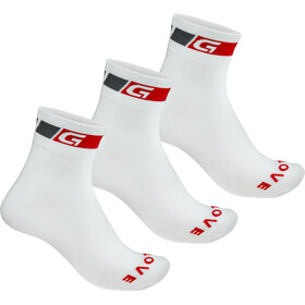 GripGrab Classic Regular Cut Socks 3-Pack White